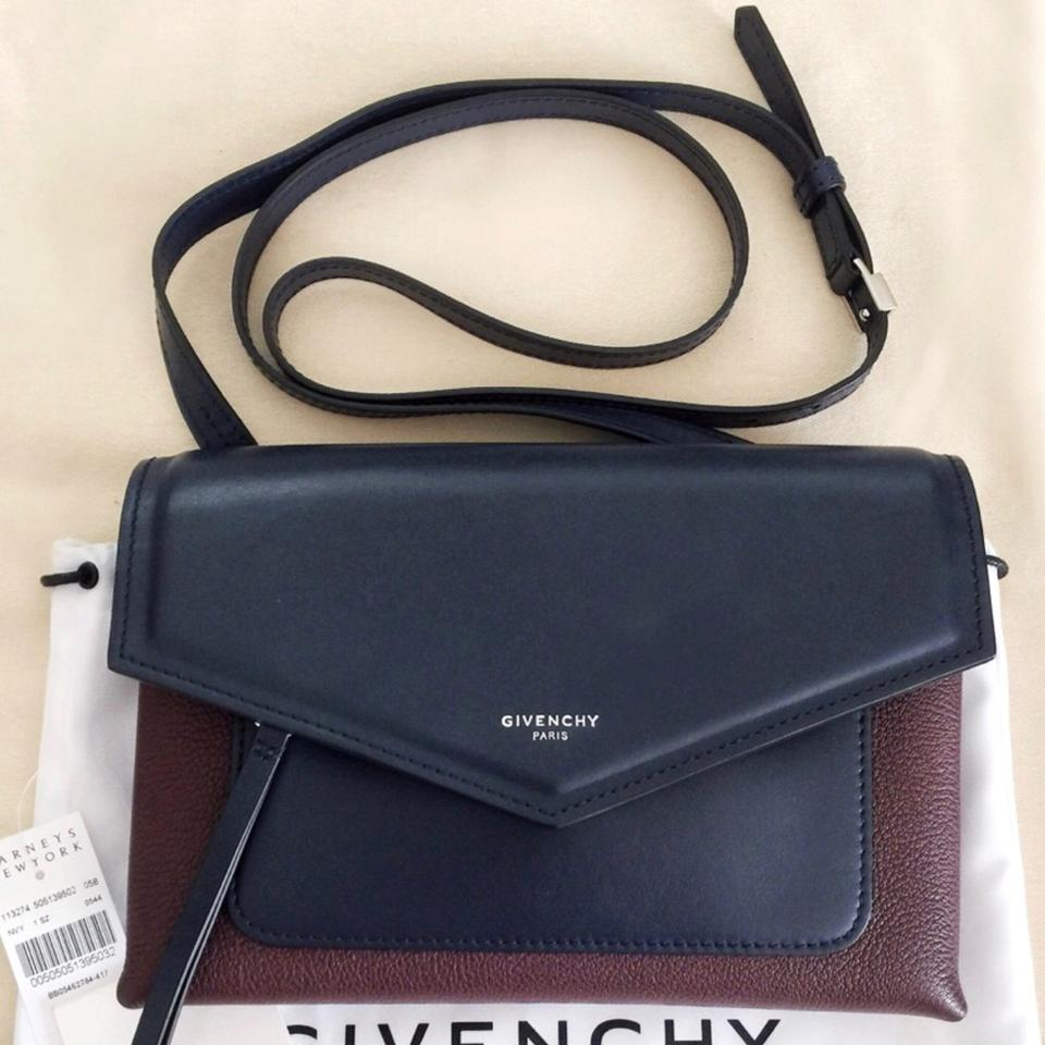 Bag Burgundy Navy Body Cross Givenchy Leather Duetto Y6vTqT