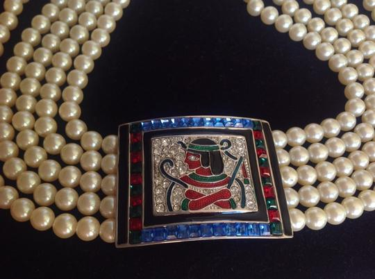 Herlooms of Tomorrow Art Deco Egyptian Pearl Crystal Necklace