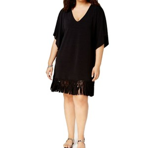 dotti Women's Tunic Fringe-hem Cover Up