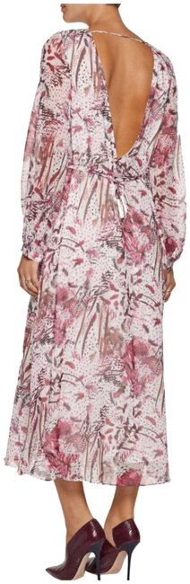 Item - White/ Brown/ Bungendy Red Aby Open-back Printed Silk-georgette Long Casual Maxi Dress Size 8 (M)