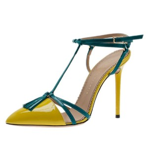 Charlotte Olympia Blue,Yellow Sandals