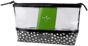 Kate Spade Catie Brook Place Large & Clear Cosmetic Bag Pouch