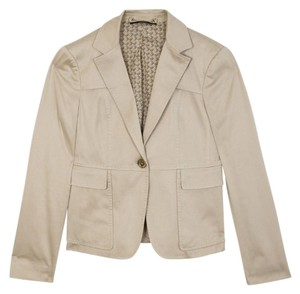 Gucci Cotton Beige Leather Jacket