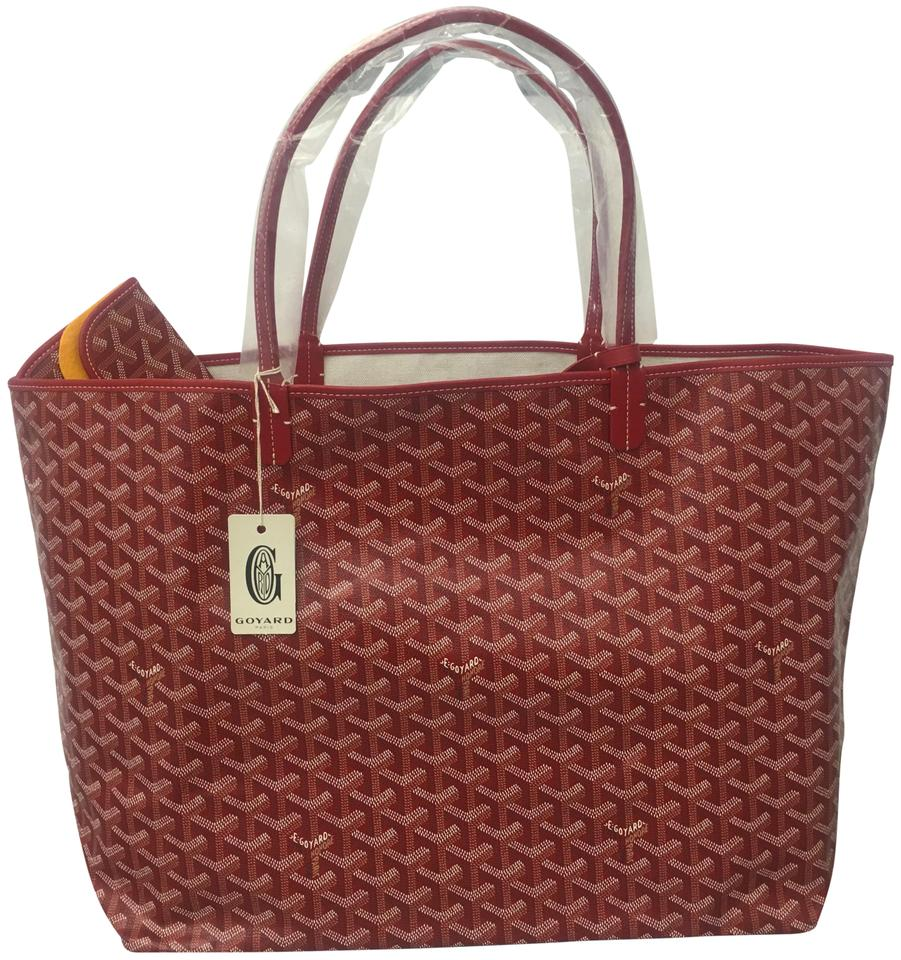 a863f9c18ad20 Goyard Classic Chevron St. Louis Gm - Includes Detachable Wallet Red ...
