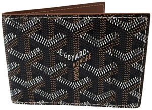 Goyard and Tan Classic Chevron Multi-Slot Bi-Fold Slim Leather