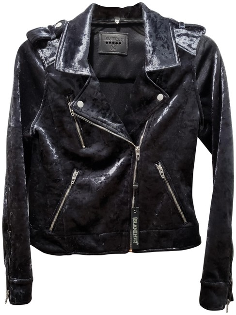 Item - Graphite/Onyx Faux Leather Moto Jacket Size 10 (M)