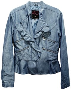 Members Only Polyurethane Polyester Faux Leather Motorcycle Jacket