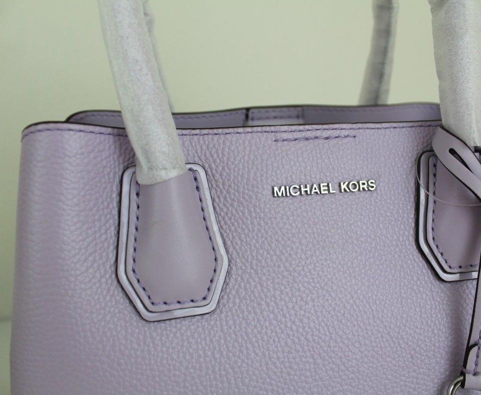 fe45dfffac8c4f Michael Kors Satchel in Light Quartz Purple/Silver Image 11. 123456789101112