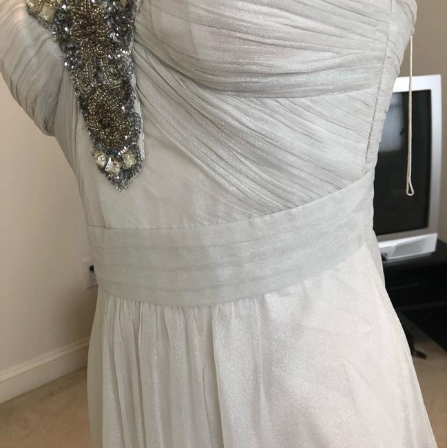 White Silver Aidan Beaded Halter Gown Long Formal Dress Size 2 (XS) White Silver Aidan Beaded Halter Gown Long Formal Dress Size 2 (XS) Image 11