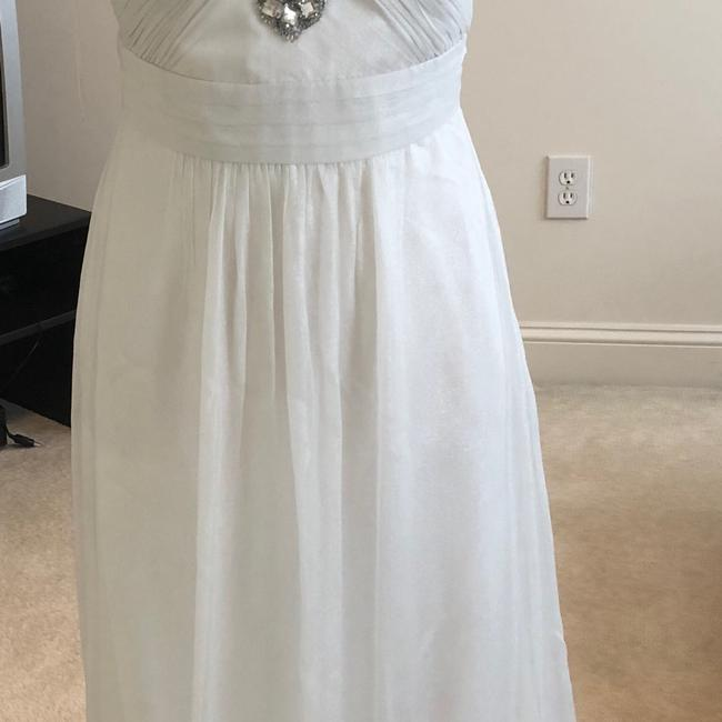 White Silver Aidan Beaded Halter Gown Long Formal Dress Size 2 (XS) White Silver Aidan Beaded Halter Gown Long Formal Dress Size 2 (XS) Image 4
