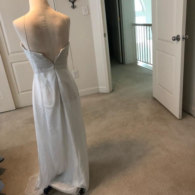 White Silver Aidan Beaded Halter Gown Long Formal Dress Size 2 (XS) White Silver Aidan Beaded Halter Gown Long Formal Dress Size 2 (XS) Image 7