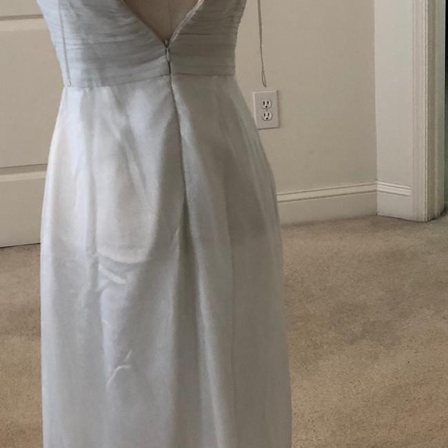 White Silver Aidan Beaded Halter Gown Long Formal Dress Size 2 (XS) White Silver Aidan Beaded Halter Gown Long Formal Dress Size 2 (XS) Image 8