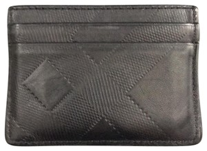 Burberry burberry embossed check card case