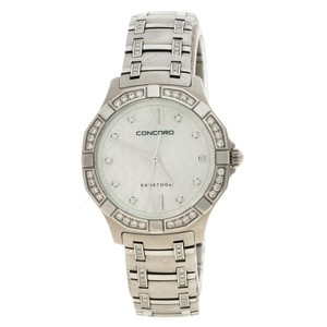 Concord Mother of Pearl Diamond & Stainless Steel Saratoga Women's Wristwatch