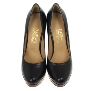 Salvatore Ferragamo Red,Black Pumps