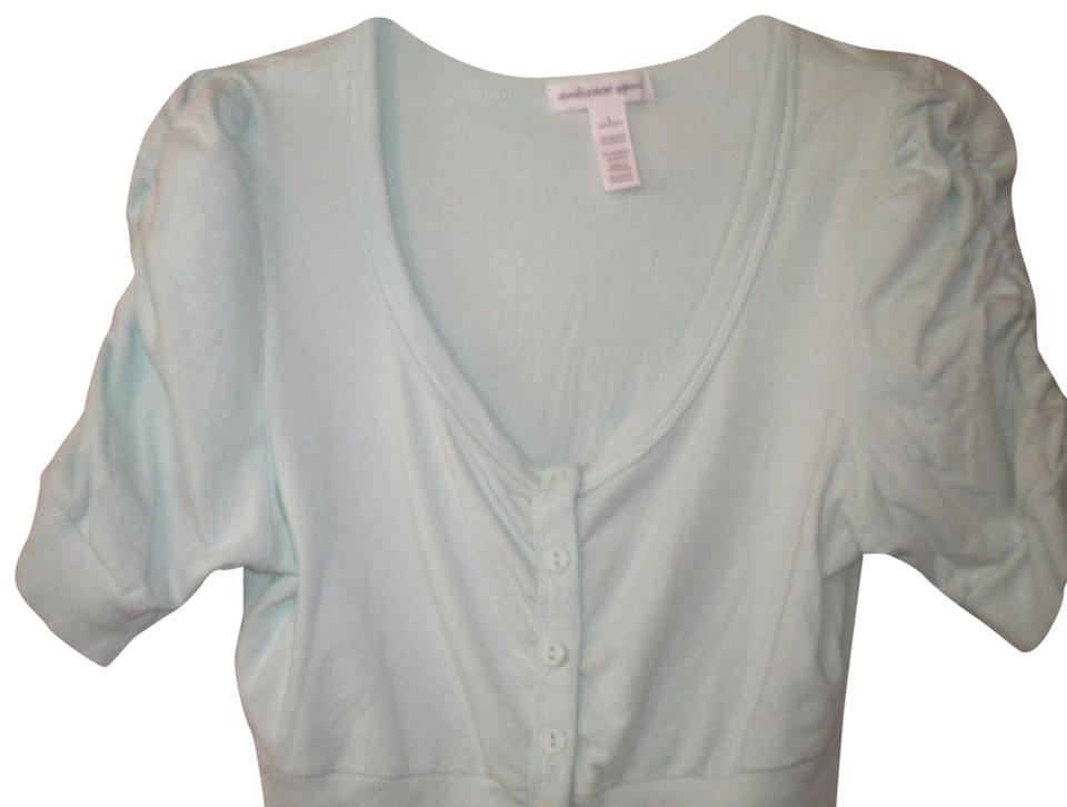 Ambiance Apparel Mint Junior Large Button Down Top Size 14 L Tradesy