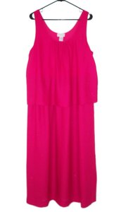 dee09e2c93 Pink Maxi Dress by Soft Surroundings Layered Maxi Long Sleeveless
