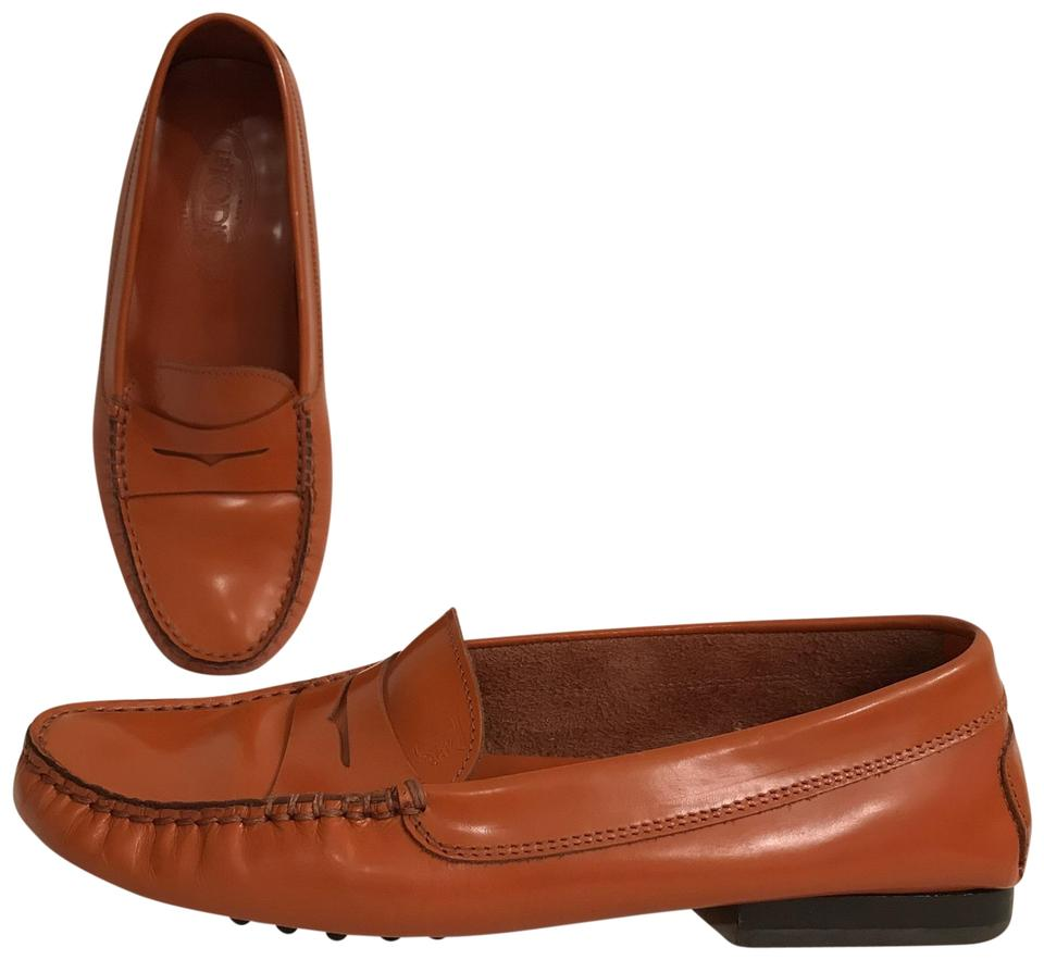 grand choix de f1275 1ef4e Tod's Orange Patent Leather Penny Loafers Driving Mocassin Flats Size US 8  Regular (M, B) 79% off retail