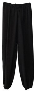 Julian Chang Silk Baggy Pants Black