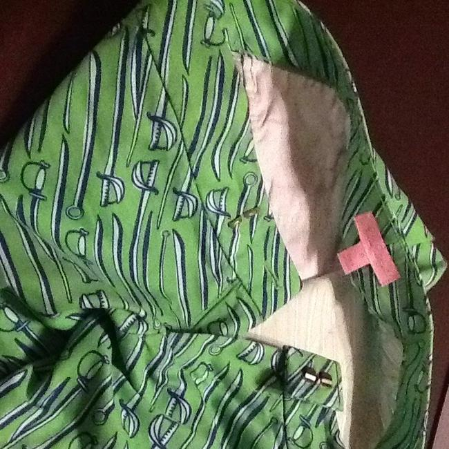 Lilly Pulitzer Capris Green With Blue White Prints