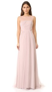 Monique Lhuillier Rose Tulle Chiffon 450375 Modern Bridesmaid/Mob Formal Bridesmaid/Mob Dress Size 2 (XS)