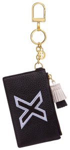 "Tory Burch NEW TORY BURCH "" X "" monogram Card Case Key Fob"