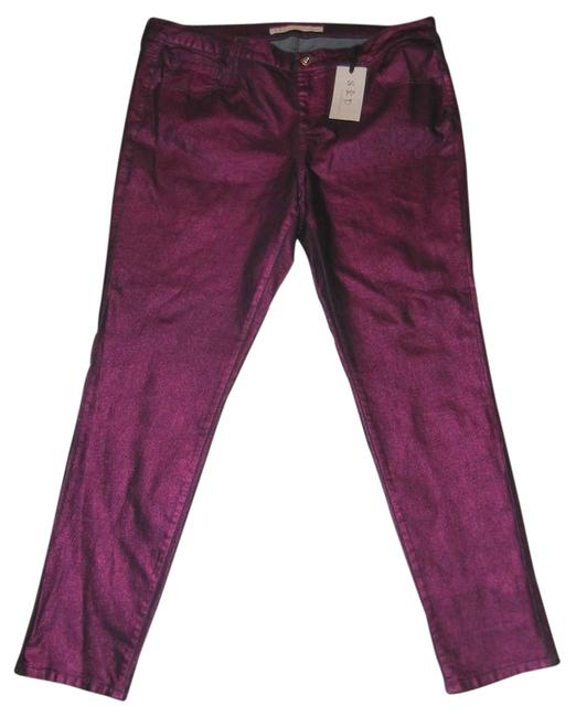 S&P Metallic Stretch Size 6 New With Tags Skinny Jeans-Coated