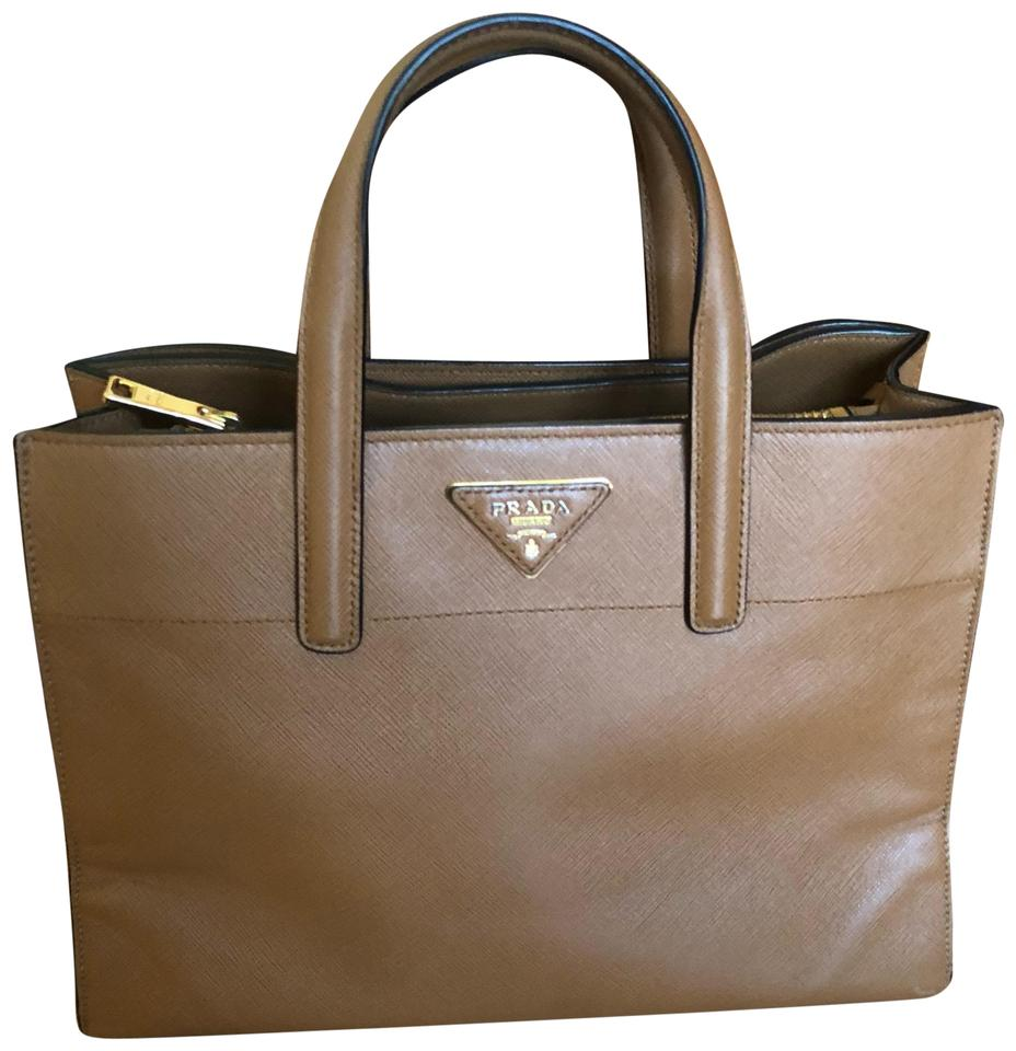 22f3136176f6 Prada Brown Leather Satchel - Tradesy