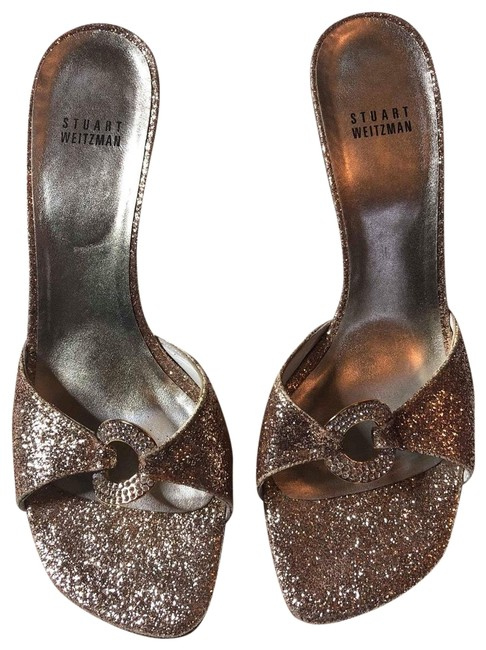 Item - Gold Silver Glitter Pumps Mules/Slides Size US 9.5 Regular (M, B)