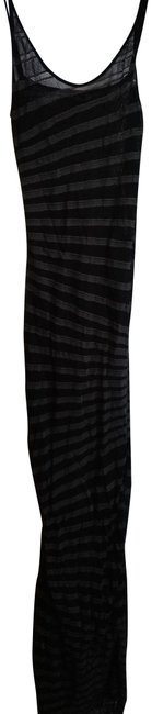 Item - Black Grey 38(S) Made In Italy Striped Long Night Out Dress Size 4 (S)