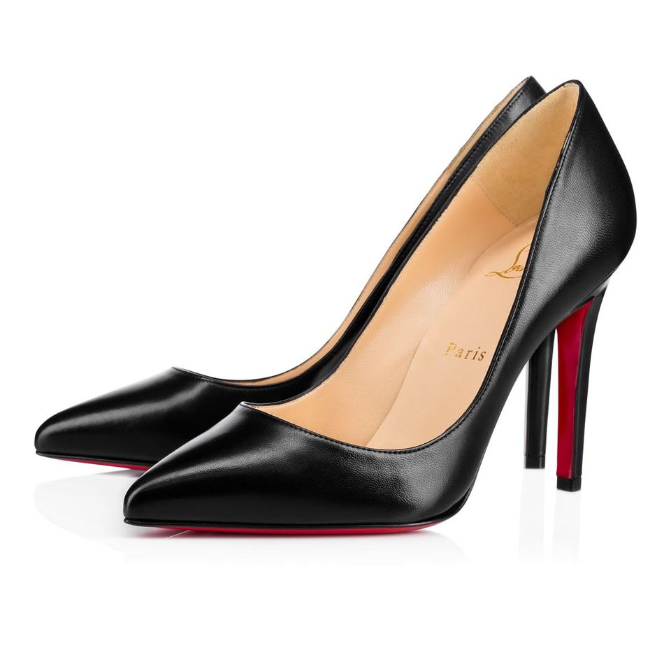 Christian Louboutin Black Classic Leather Pigalle 100mm Kid Leather Classic Point-toe Pumps f4fa09