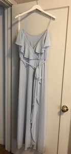 Ice Blue Nouvelle Amsale Drew Feminine Bridesmaid/Mob Dress Size 8 (M)
