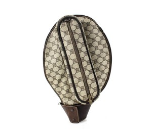 Gucci Tennis Racket Cover GG Supreme Monogram Canvas Leather