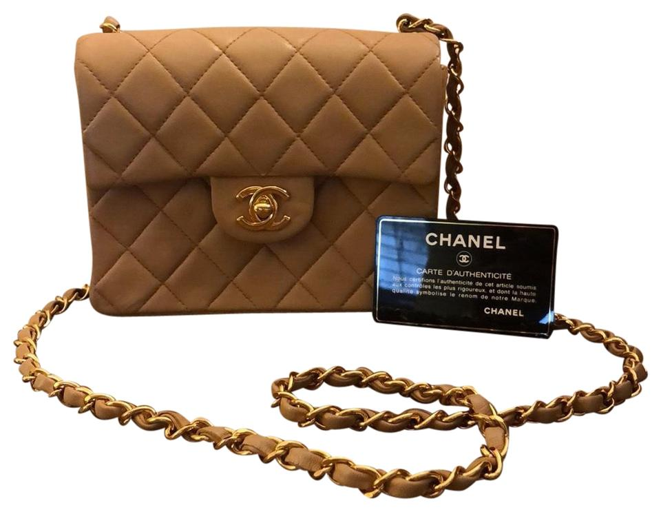 Chanel 255 Reissue Quilted Chain Tan Leather Cross Body Bag Tradesy