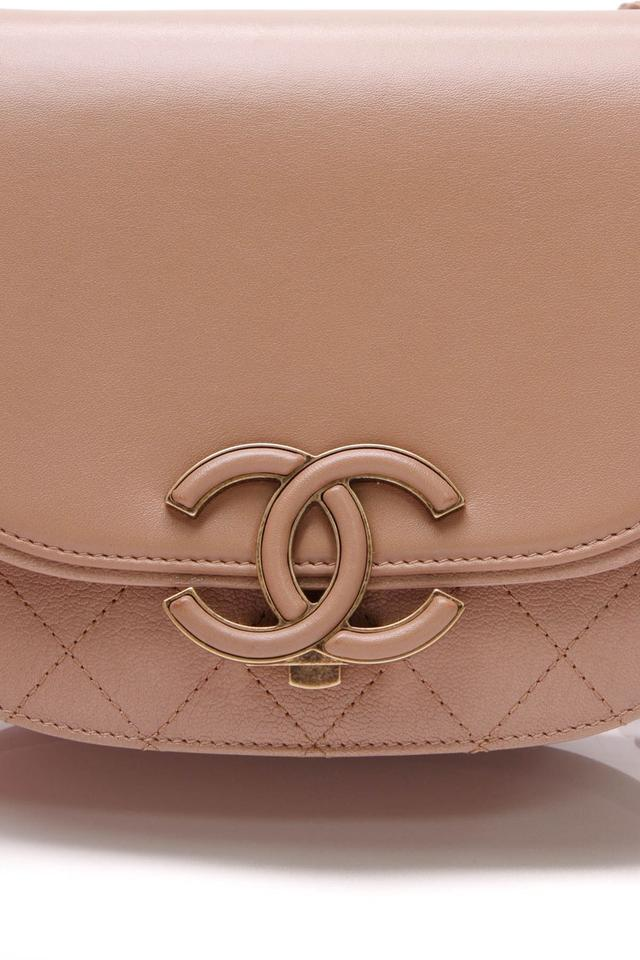 3cdb6695e4f2cc Chanel Classic Flap Coco Curve Small - Beige Goatskin Leather Shoulder Bag  - Tradesy