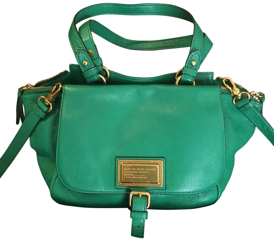 f227ab863a Marc by Marc Jacobs M0004784 Green Cow Leather Cross Body Bag - Tradesy
