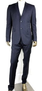 Gucci Black/Gray Classic Stripe Wool Marseille Suit 2 Button It 52r/Us 42r 353238 1053 Groomsman Gift