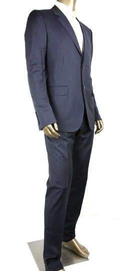 Gucci Black/Gray Classic Stripe Wool Marseille Suit 2 Button It 52r/Us 42r 353238 1053 Groomsman Gift Image 1