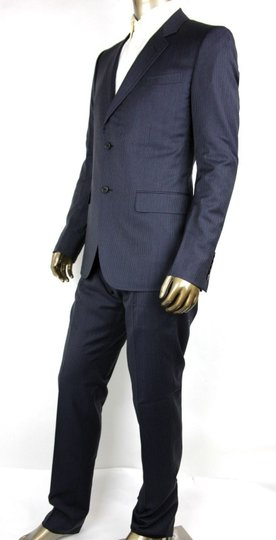 Gucci Black/Gray Classic Stripe Wool Marseille Suit 2 Button It 52r/Us 42r 353238 1053 Groomsman Gift Image 2