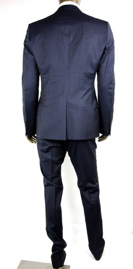 Gucci Black/Gray Classic Stripe Wool Marseille Suit 2 Button It 52r/Us 42r 353238 1053 Groomsman Gift Image 3