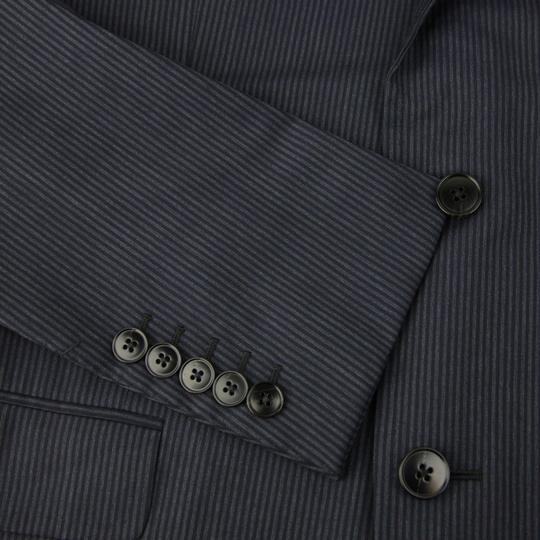 Gucci Black/Gray Classic Stripe Wool Marseille Suit 2 Button It 52r/Us 42r 353238 1053 Groomsman Gift Image 4