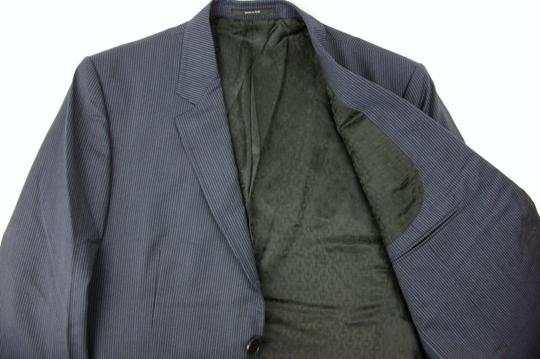 Gucci Black/Gray Classic Stripe Wool Marseille Suit 2 Button It 52r/Us 42r 353238 1053 Groomsman Gift Image 6