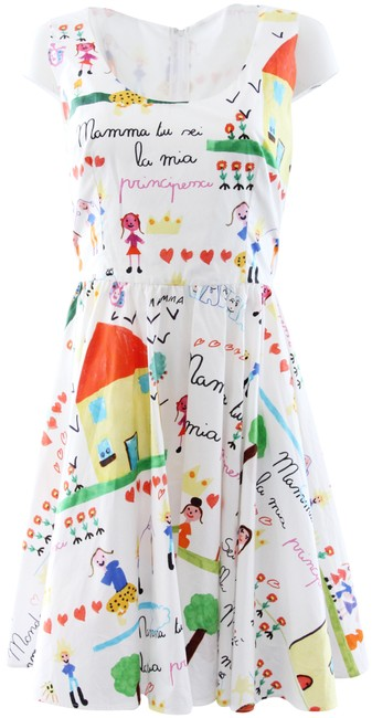 Item - White Mamma Sicily Fit-and-flare Short Casual Dress Size 10 (M)