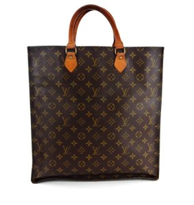 Louis Vuitton Sac Plat Monogram Vintage Tote in Brown