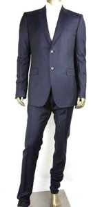 Gucci Blue Bold Stripe Wool Marseille Suit 2 Button 1 Vent 48r/Us 38r 353238 4240 Groomsman Gift