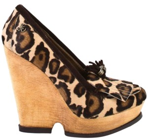 Sam Edelman brown, nude, leopard Wedges