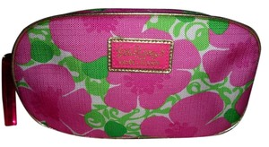 """Lilly Pulitzer LILLY PULIZTER PINK/GREEN COSMETIC BAG """"""""NEW"""""""""""