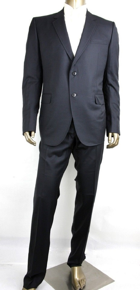 157194658 Gucci Black Wool/Silk Formal Suit Green Lining 2 Buttons It 58r/Us 48r  406142 Groomsman Gift