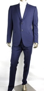Gucci Blue Wool/Mohair Marseille Suit 2 Buttons 1 Vent 54r/Us 44r 234096 4265 Groomsman Gift