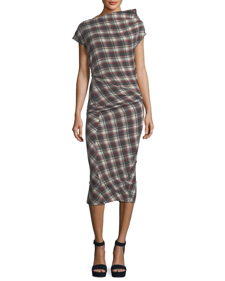 c0c83169ec460 Étoile Isabel Marant Plaid Pisa Midi Long Casual Maxi Dress Size 2 ...